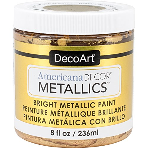 DecoArt DECADMTL-36.4 Ameri Deco MTLC 8oz 24K Gold Americana Decor Metallics 8oz 24K Gold from DecoArt