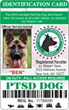 IDCards4U PTSD Service Dog Badge Id