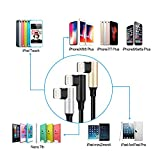 Alworld 3 Pack 3ft Right Angle Phone Cable Charger