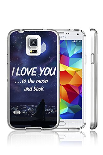 S5 Case, Case for Samsung Galaxy S5 Slim Snap on Hard Protective I Love You to the Moom and Back
