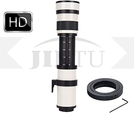 JINTU 420-800mm F/8.3 HD - Lente de Zoom de teleobjetivo Manual ...