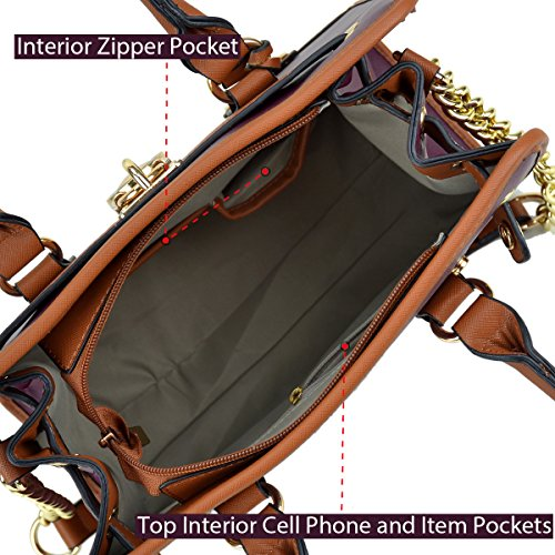 Wallet Bag 6892 Purse Matching Color Handbag Shoulder Padlock Top Handbags Satchel Handle Women's Simple 02 Bags Purple Belted w Matching Designer Dasein Wallet B7qgvwp4