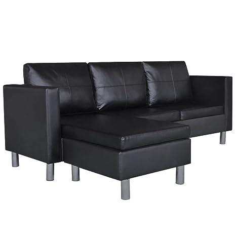 Amazon.com: piel sintética sofá seccional configurable ...