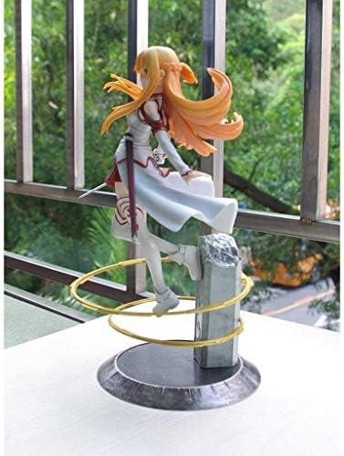 Online zwaardkunst Asuna Aincrad ANI actiekarakter model-PVC actiemodel-speelgoed cartoon jongen serie-auto decoratie-uitgerust met wapens-jongen cadeau-maat 21,5 cm