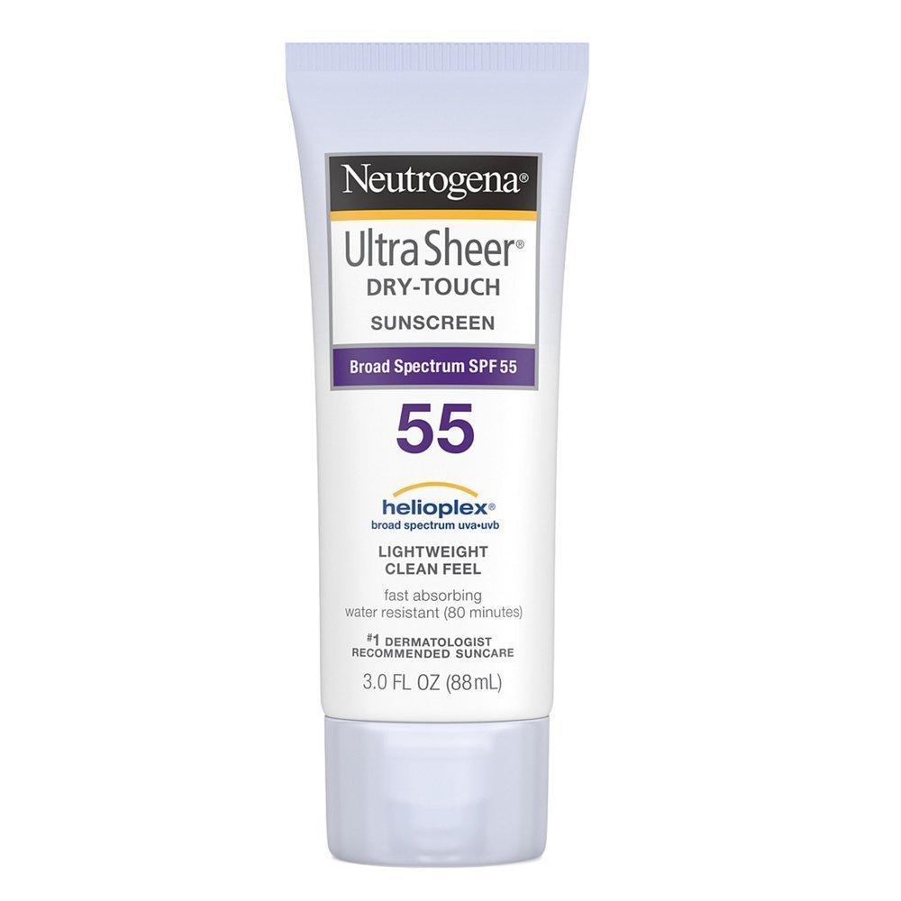 Neutrogena Ultra Sheer Dry-Touch Sunscreen SPF 55 3 oz (Pack of 4)