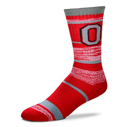 Ohio State Buckeyes Medium RMC Striped Socks Ohio State Buckeyes Striped Acrylic