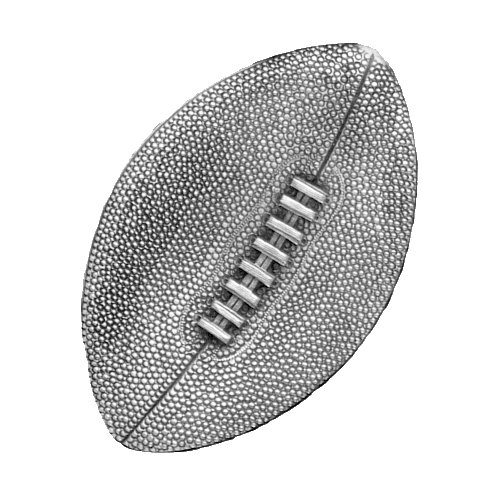 (1pc, Pewter Football Magnet)