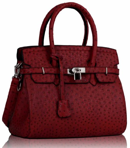 Handbags Bags Faux 3 Ladies Design Large Leather Style Tote Red Designer Womens Shoulder ICwqT1B