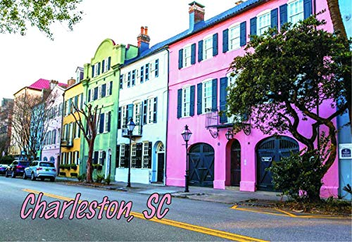 Charleston, SC Rainbow Row Homes, South Carolina, Souvenir Magnet 2 x 3 Photo Fridge ()