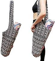 Aozora Yoga Mat Bag   Yoga Mat Tote Sling Carrier with Large Side Pocket & Zipper Pocket   Fits Most Size