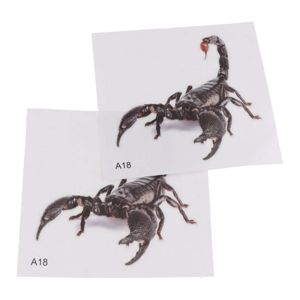 MagiDeal 2 Pcs One Sides Reptile Box Background Sticker Aquarium Wall Landscape Decoration - Type 4