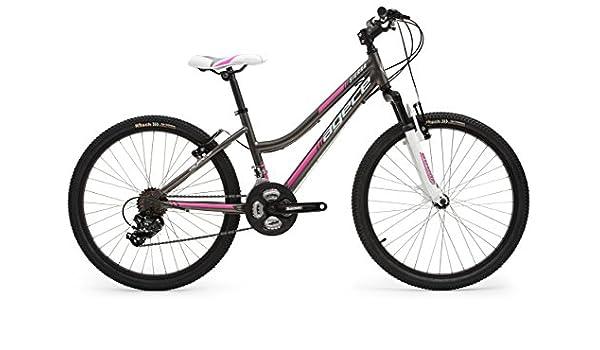 Agece Sierra-24D Bicicleta de montaña, Niñas, Antracita/Rosa, XS ...