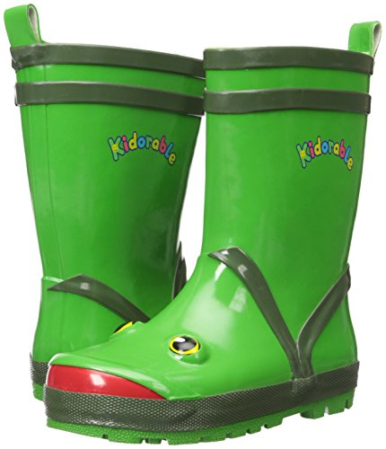 Kidorable Green Frog Natural Rubber Rain Boots With A Pull On Heel Tab (Little Kid) 12 M US by Kidorable (Image #6)