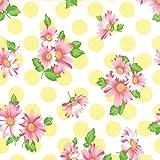 Strawberry Pink Daisies, Lemon Yellow Polka Dots, White, Sew and Sew, Chloe's Closet, Moda, By the Yard