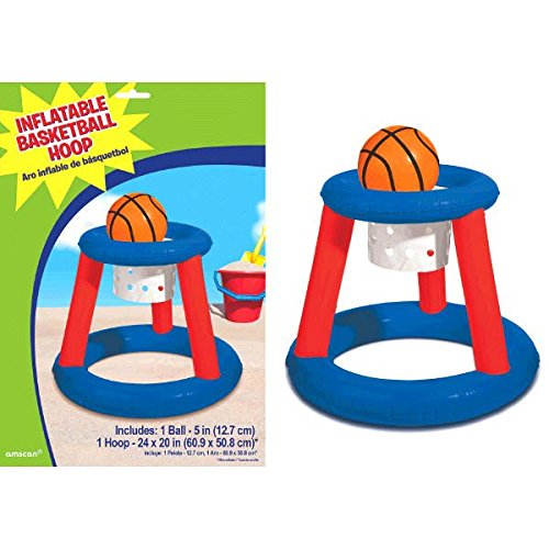 Amscan Inflatable Basketball Hoop & Ball Pool Game Summer Swimming Party Water (Hoop Decoration)