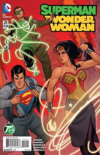Superman Wonder Woman (2014) #21 VF/NM Green Lantern 75th anniversary variant