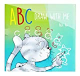 dry erase how to draw - ABC Draw With Me | Wipe Clean Alphabet Flash Cards | Great Birthday Gift Present For Girls Boys Age 3 4 5 6 7 Years Old | Art set |