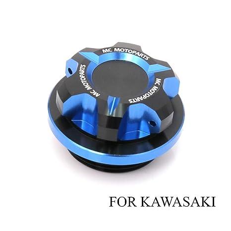 T-Axis Blue CNC Oil Filler Cap For Kawasaki ZX-10R Ninja ZX-6R 636 Ninja ZRX1200 2017 2018 2019 Ninja 300R Ninja 250R