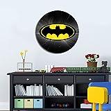 LaModaHome Wall Art Accessories MDF Painting Diameter (15.7''), Batman Cartoon Child Anime Kid Tv Series Bright Stylish Art Home Decor Perfect Design For Home, Office, Room
