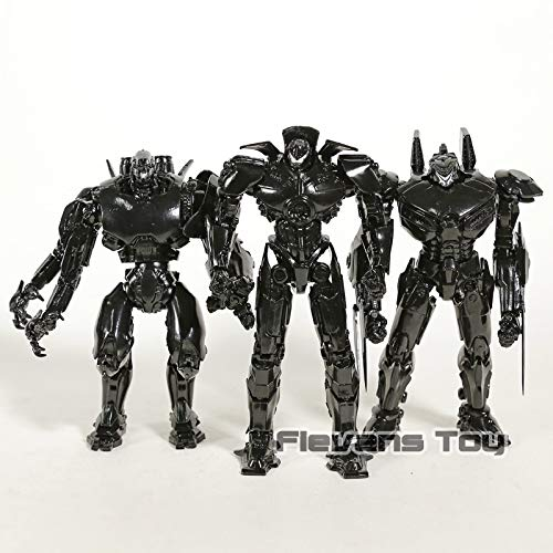 (3pcs/Set 19cm (7.5 inch) Pacific Rim PVC Figure / Black Variant PVC Figure)