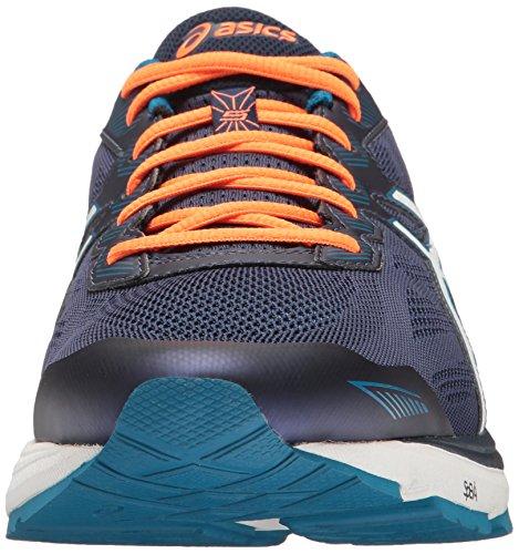 Asics Mens Gt-1000 5 Scarpa Da Corsa Blu Indaco / Neve / Arancio Caldo