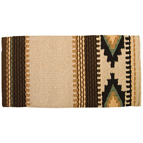 Mayatex Cowtown Saddle Blanket, San/Black/Chestnut/Sheep/Indian Tan/Sage, 36 x 34-Inch