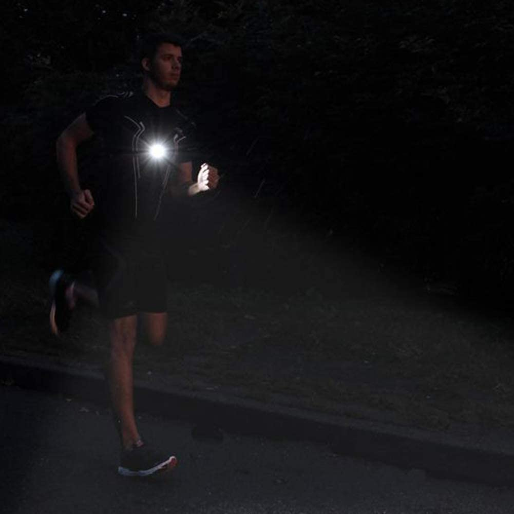 Deportes Al Aire Libre Recargable USB LED Noche Correr Linterna L/ámpara con Desmontable Bardella para Corredores free size Pantalones Pecho Correr Luz Negro Camping Senderismo