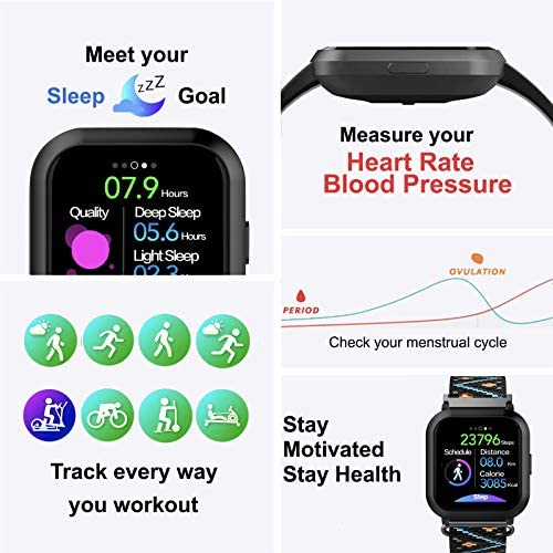 AUPALLA Smart Watch Fitness Tracker Watches for Women, Fitness Watch with Heart Rate Monitor Blood Pressure Monitor Sports Tracker Sleep Monitor Compatible Android Phones Gifts for Women 3