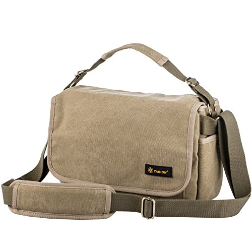 TARION RS-01 Camera Bag Shoulder Bag Case Water Repellent Canvas Massenger Bag DSLR Camera Mirrorless Yellow by TARION