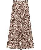 [リリーブラウン] ツートン植物柄ロングスカート LWFS194167 レディース