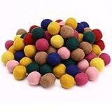Surepromise 2cm Handmade 100% Wool Multicolor Felt Ball Beads Pom Pom DIY Craft Accessories