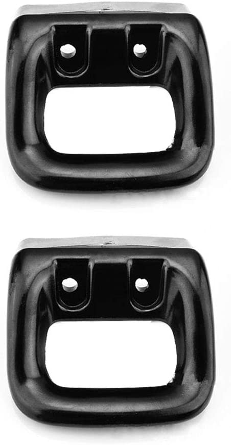 Asa para olla, 2 piezas, de repuesto, fácil de instalar, corta, desmontable, accesorio de doble agujero, mango de baquelita antiquemaduras, bandeja ergonómica, color negro Tamaño libre As Picture Show