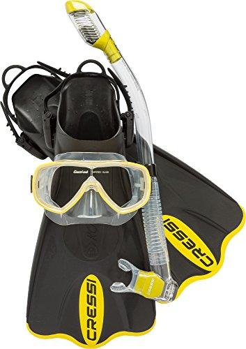 Cressi Palau SAF Set, Yellow, M/L