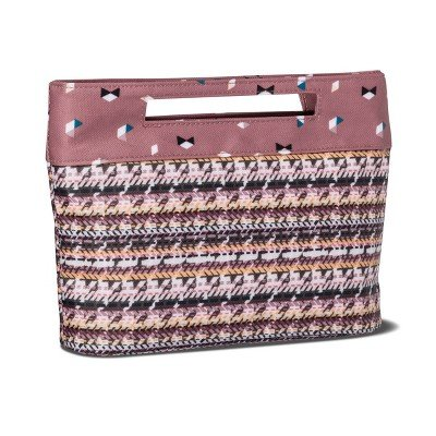 Sonia Kashuk153; Cosmetic Bag Modern Pouch Broken Houndstooth MULTI-COLORED