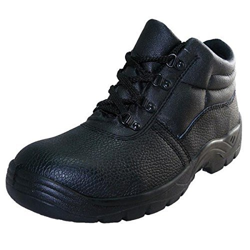 Safety-Site Chukka Boot Steel Toe Cap Black Size 5 by Safety-Site