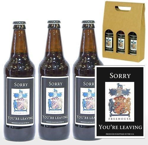 Personaliseitonline lo siento te vas 3 x Yorkshire cerveza 500 ml en una caja de regalo: Amazon.es: Hogar