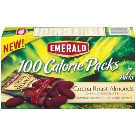 Roast Almonds - Emerald Dark Chocolate Cocoa Roast Almonds 100 Calories 2 Boxes