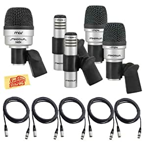 cad audio mix down drum 5 microphone set for drums with 2 tom snare mics 1 kick mic. Black Bedroom Furniture Sets. Home Design Ideas