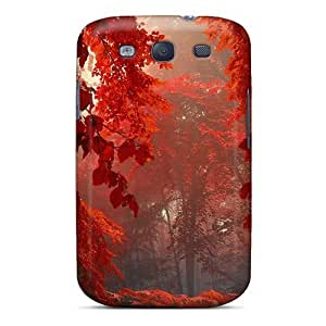New Touching Rhythms Super Strong Red Forest Tpu Case Cover For Galaxy S3