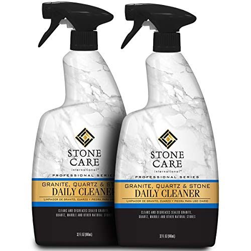Stone Care International Granite Cleaner - 32 Fluid Ounces [2 Pack] Granite Marble Quartz Tile Travertine Limestone Slate Clean