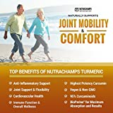 NutraChamps Turmeric Curcumin with BioPerine 1500mg - 180 Capsules with 95% Curcuminoids Extra Strength Supplement w Black Pepper Extract for Pain Relief, Joint Support, Inflammation - Highest Potency