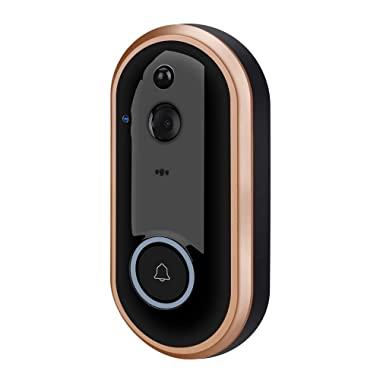 NewPal Smart Video Doorbell Wireless Home doorbell 1080P Camera with 2 Rechargable Batteries and Indoor Chime Included, 2-Way Talk, Night Vision, Pir Motion Detection.Supported for ISO Andriod Phones