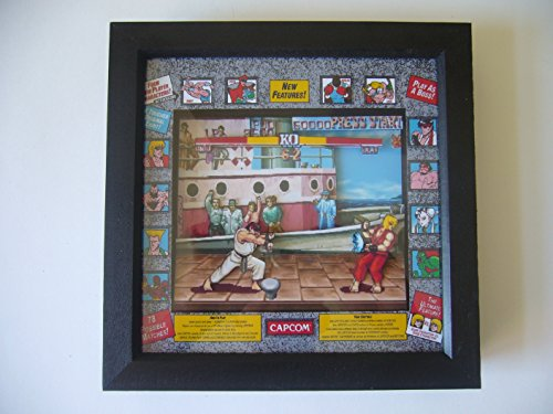 Street Fighter 2 Arcade 3D Shadow Box Diorama Art by 8 Bit Boutique