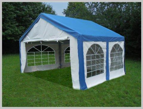 Pavillon Pavillion Festzelt Partyzelt Modular Pro PE 3x4 4x3 3x4m 4x3m MIT Fenster blau von stabilepartyzelte