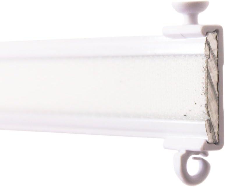 zum Aufklipsen auf das Paneelwagenprofil Clips F/ür Premium Paneelwagen mit den Ma/ßen 25x2,5mm Rolle 4mm Farbe wei/ß je Paar
