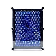 Classic 3D Art Sculpture Plastic Pin Art Pinart Impression Board Desktop Office Toy Kids Children Gift, Large Size, Blue A0195-1