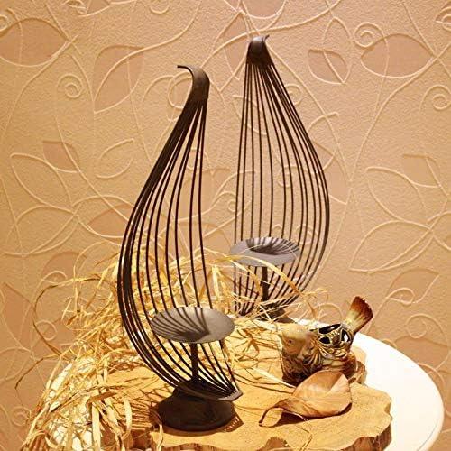 TREESTAR R/étro en Fonte De Lotus P/étale Vent Lampe Bougeoir Creative D/écoration D/écoration D/écoration de La Maison Saint-Valentin De Mariage Table /À Manger