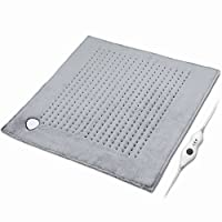 """XXXL Heating Pad Large Electric, 23"""" x 24"""" King Size Fast Heating Technology for Cramp, Neck and Shoulders, Back, Abdomen, Legs, Auto Shut Off, Safe for Pets, Moist/Dry, Machine Washable – Gray"""