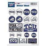 Wincraft NCAA Texas Christian University Vinyl Sticker Sheet, 5'' x 7''