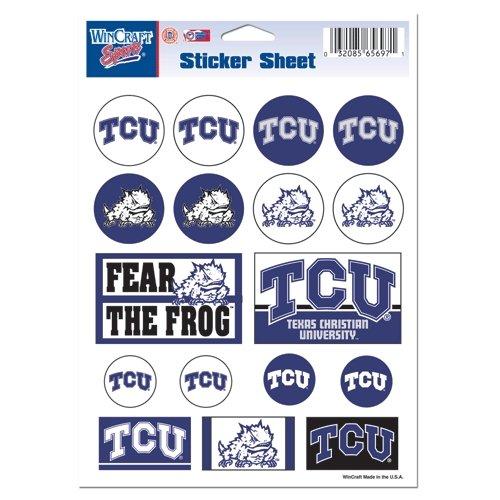 WinCraft NCAA Texas Christian University Vinyl Sticker Sheet, 5